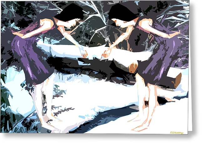 Hoodies Mixed Media Greeting Cards - Dancing In The Snow Greeting Card by Patrick J Murphy