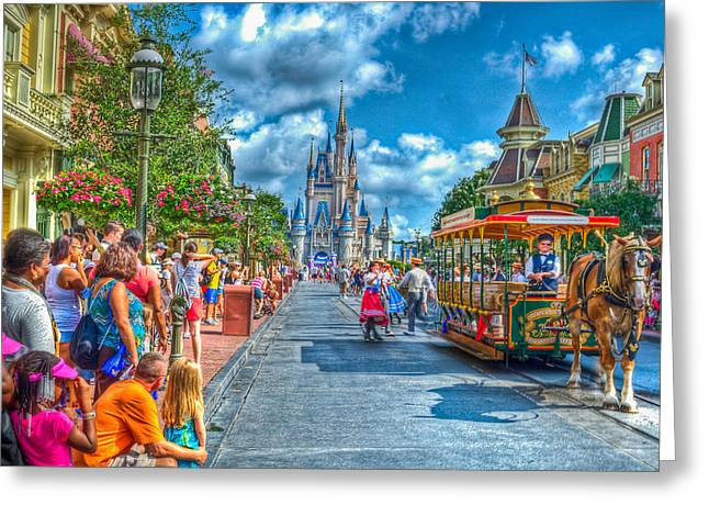 Disney Greeting Cards - Dancing In The Streets Greeting Card by Ryan Crane