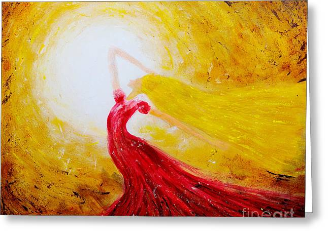 Evening Dress Greeting Cards - Dancing in the sun Greeting Card by Jiri Capek