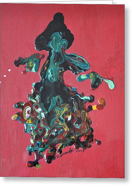 Brenda Chapman Greeting Cards - Dancing Lady Greeting Card by Brenda Chapman