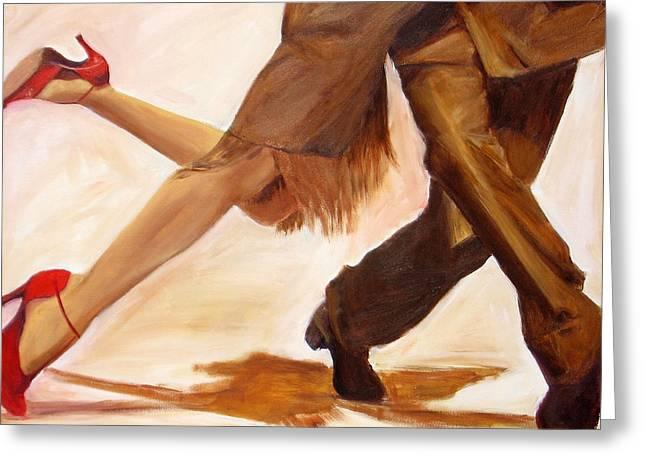 Tango Greeting Cards - Dancing Legs III Greeting Card by Sheri  Chakamian