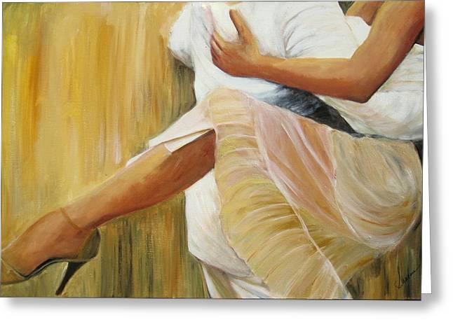 Tango Greeting Cards - Dancing Legs Greeting Card by Sheri  Chakamian