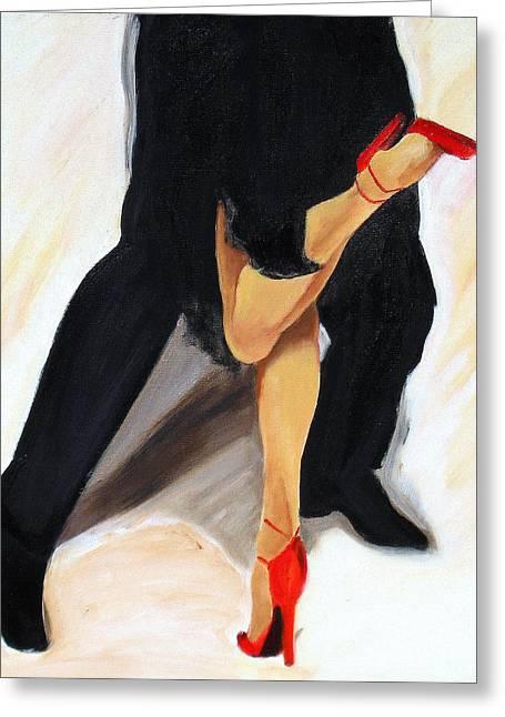 Tango Greeting Cards - Dancing Legs II Greeting Card by Sheri  Chakamian