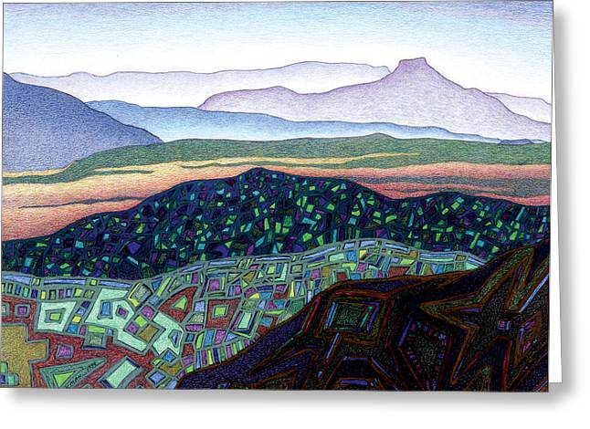 Santa Fe Mixed Media Greeting Cards - Dancing light of Northern New Mexico Greeting Card by Dale Beckman