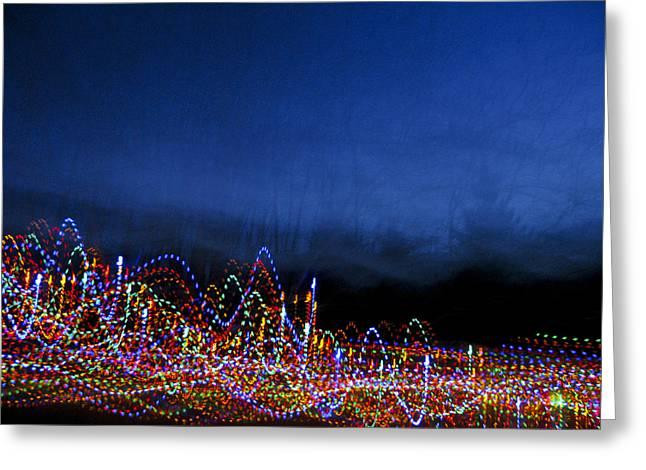 Dancing Lights 1 Greeting Card by Douglas J Fisher