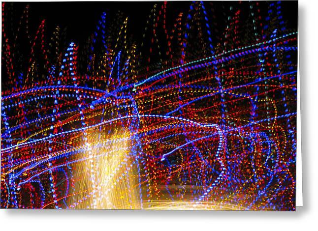 Dancing Lights 6 Greeting Card by Douglas J Fisher