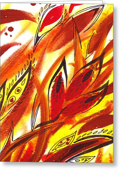 Abstract Movement Greeting Cards - Dancing Lines Hot Abstract Greeting Card by Irina Sztukowski