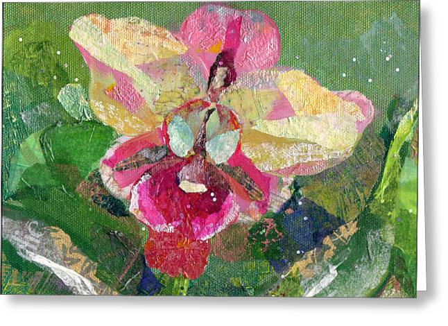 Dancing Orchid I Greeting Card by Shadia Zayed