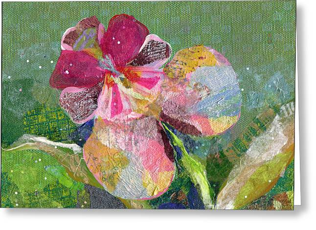 Orchid Greeting Cards - Dancing Orchid III Greeting Card by Shadia Zayed