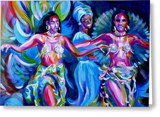 Anna Duyunova Art Greeting Cards - Dancing Panama Greeting Card by Anna  Duyunova
