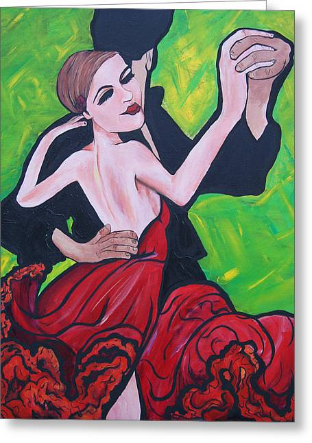 Dancing Passion Greeting Card by Lorinda Fore