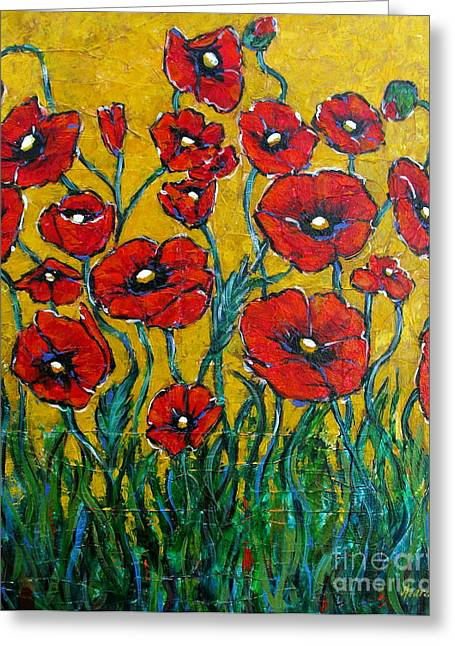 Dancing Poppies Greeting Card by Vickie Fears