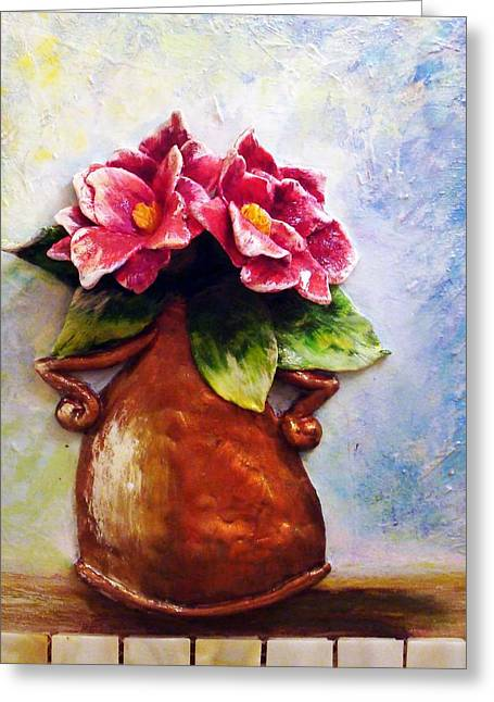 Floral Sculptures Greeting Cards - Dancing Greeting Card by Raya Finkelson
