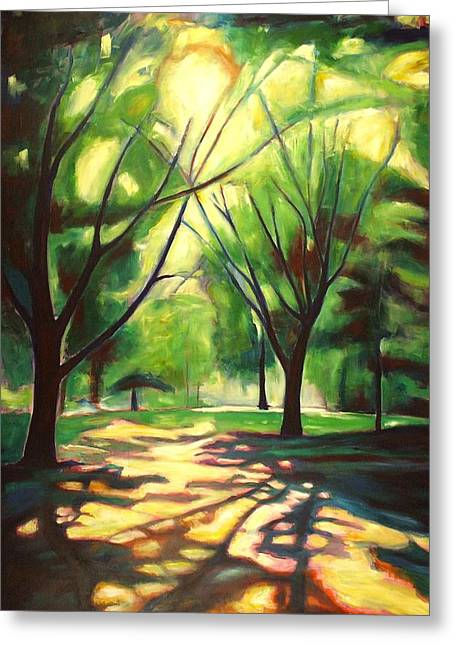 Kitchener Paintings Greeting Cards - Dancing Shadows Greeting Card by Sheila Diemert