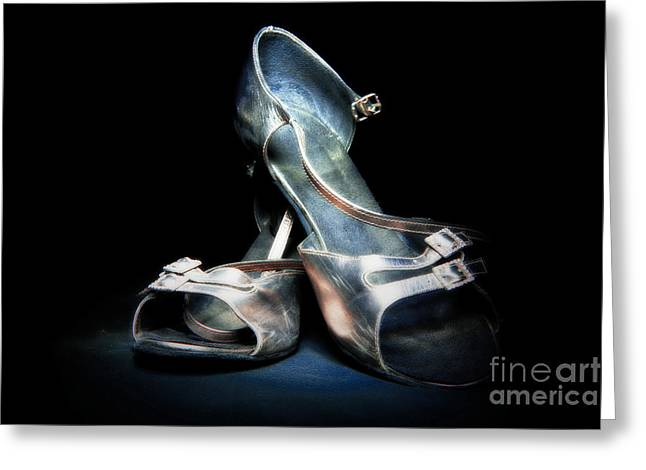 Footgear Greeting Cards - Dancing Shoes Greeting Card by Phill Petrovic