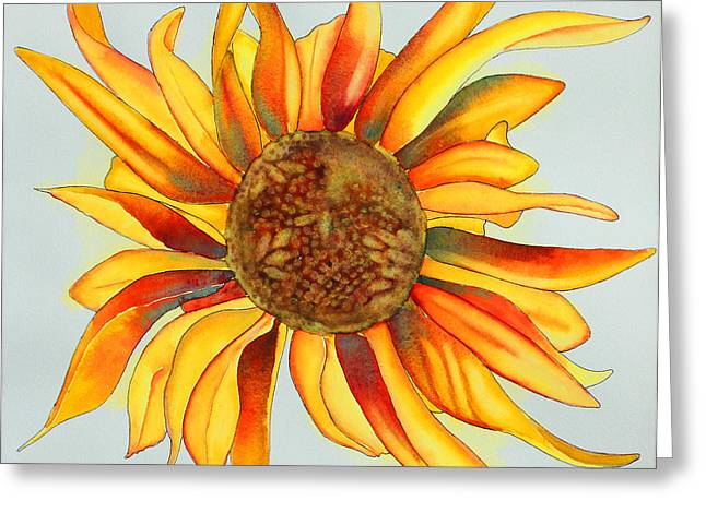 Dancing Sunflower Greeting Card by Shannan Peters