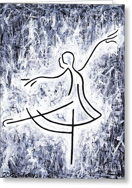Dancers Rehearsing Greeting Cards - Dancing Swan Greeting Card by Kamil Swiatek