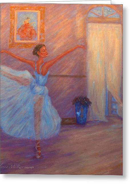 Dappled Light Greeting Cards - Dancing to the Light Greeting Card by Glenna McRae