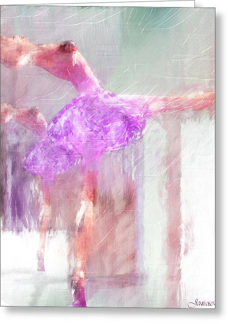 Rosy Hall Greeting Cards - Dancing to the Mirror Greeting Card by Rosy Hall