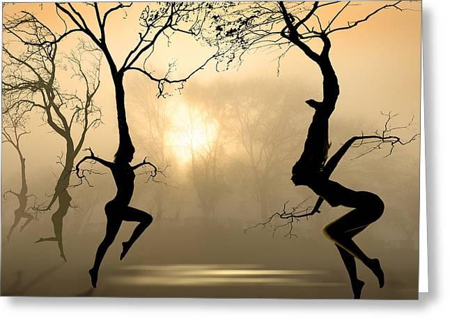 Dancing Trees Greeting Card by Igor Zenin
