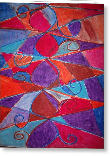 Vines Pastels Greeting Cards - Dancing Vines Greeting Card by Robyn Paul