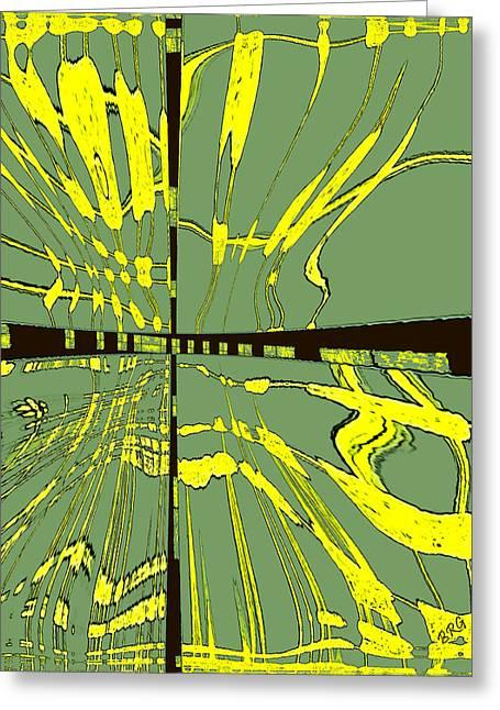 Raisa Gertsberg Digital Art Greeting Cards - Dancing Waves Greeting Card by Ben and Raisa Gertsberg