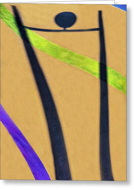 Purple Abstract Beige Greeting Cards - Dancing With a Shadow 3 Greeting Card by Paul Wear