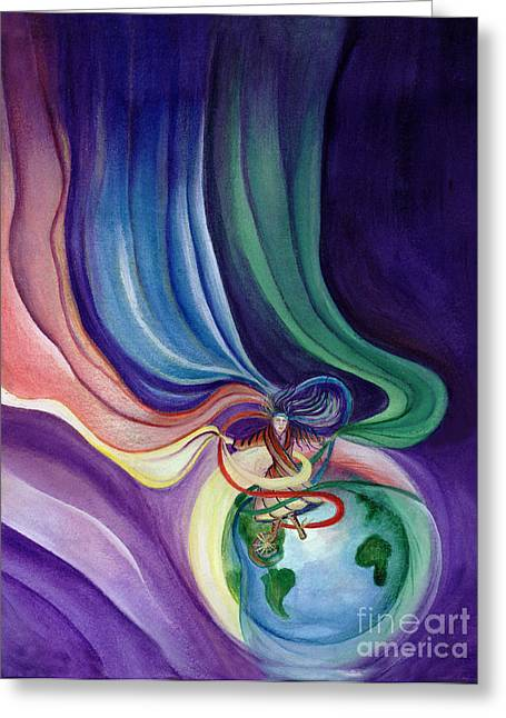 Equality Pastels Greeting Cards - Dancing With The Veils Greeting Card by L T Sparrow