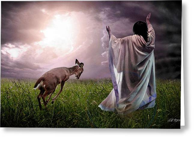 Bible Digital Greeting Cards - Dancing With Yeshua Greeting Card by Bill Stephens