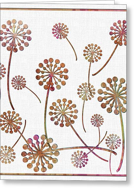 Wishes Tapestries - Textiles Greeting Cards - Dandelion Seeds  Greeting Card by Barbara Griffin