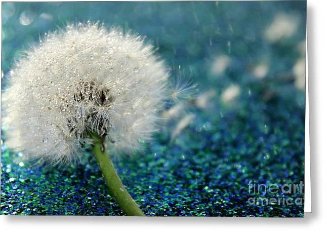 Dandelion Wishes Greeting Card by Krissy Katsimbras