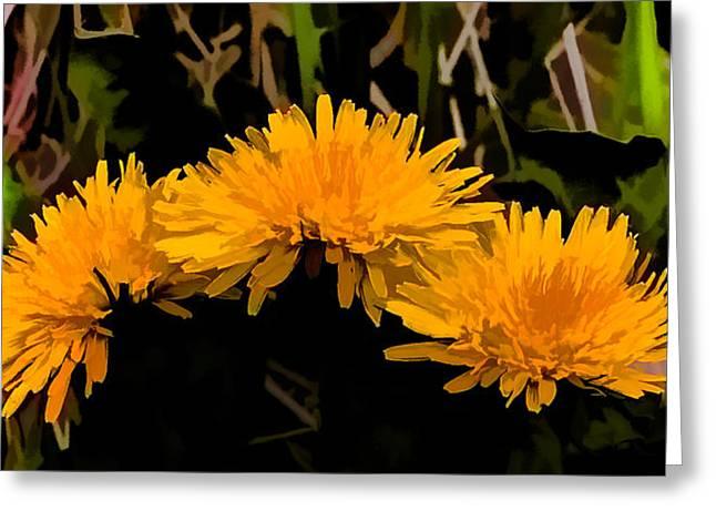 Springflowers Greeting Cards - Dandelions In Group si By Leif Sohlman Greeting Card by Leif Sohlman