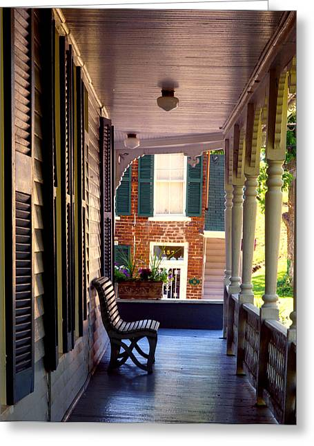 Dandridge Greeting Cards - Dandridge Front Porch Greeting Card by Ron Plasencia