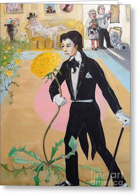 Evening Wear Paintings Greeting Cards - Dandy Greeting Card by Amie Ziner