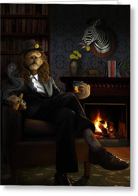 Recently Sold -  - Lions Greeting Cards - Dandylion Greeting Card by Jessica LeClerc