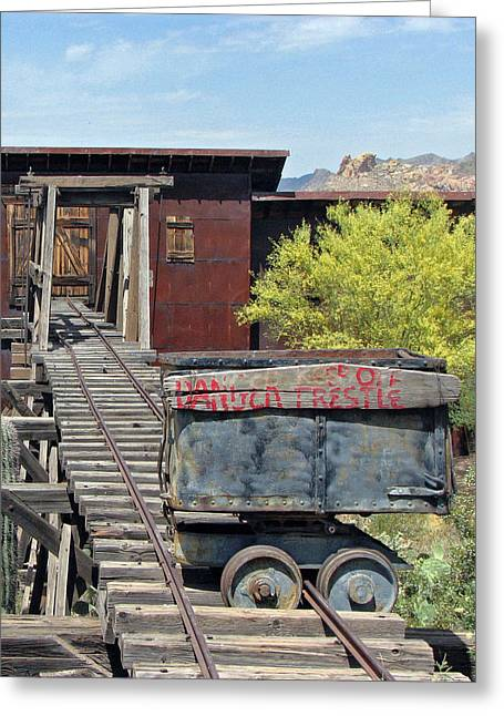 Mining Photos Greeting Cards - Danger Greeting Card by Lisa S Baker