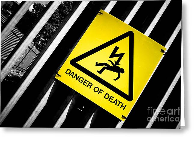 Forboding Greeting Cards - Danger of Death #2 - A New Slant On An Old Message Greeting Card by Pete Edmunds