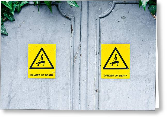 Danger Of Death Greeting Card by Tom Gowanlock