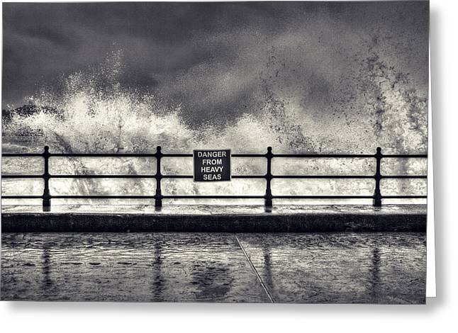 Scarborough Greeting Cards - Danger Greeting Card by Samuel Whitton