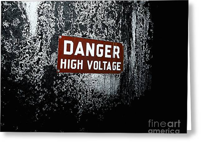 Decay Laws Greeting Cards - Danger Greeting Card by Traci Law