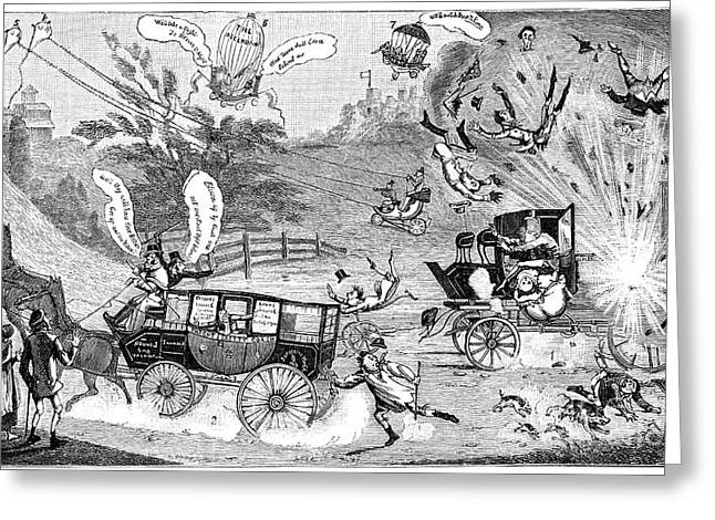 Speech Balloon Greeting Cards - Dangers Of Steam Carriages, 19th Century Greeting Card by Spl