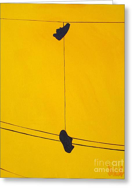 Dangling Souls Greeting Card by Michael Ciccotello