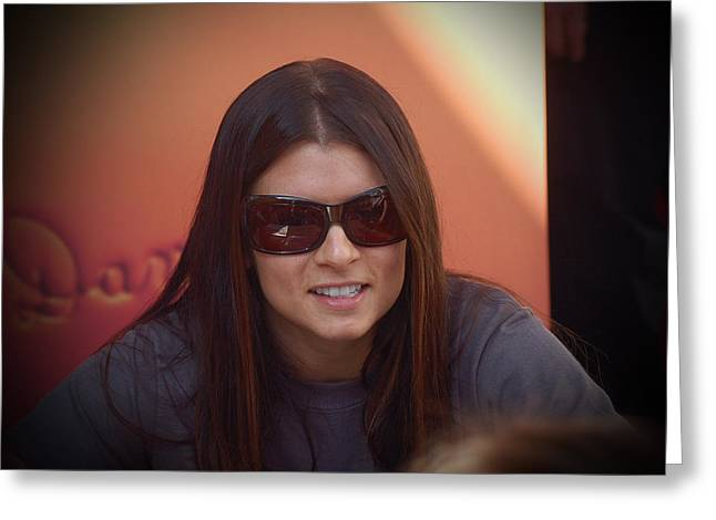 Danica Patrick Racing Greeting Cards - Danica Greeting Card by Eugene Kowalski