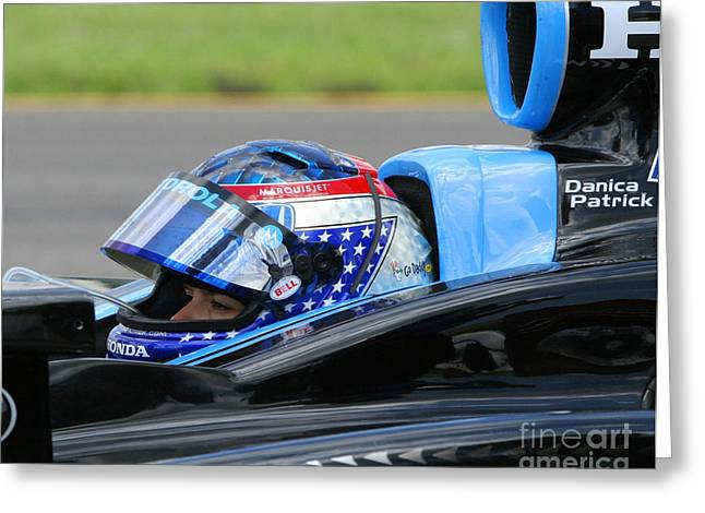 Danica Patrick Greeting Cards - Danica Patrick Ready To Race Greeting Card by Patrick Morgan