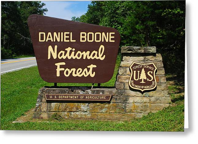 Daniel Boone Greeting Card by Frozen in Time Fine Art Photography