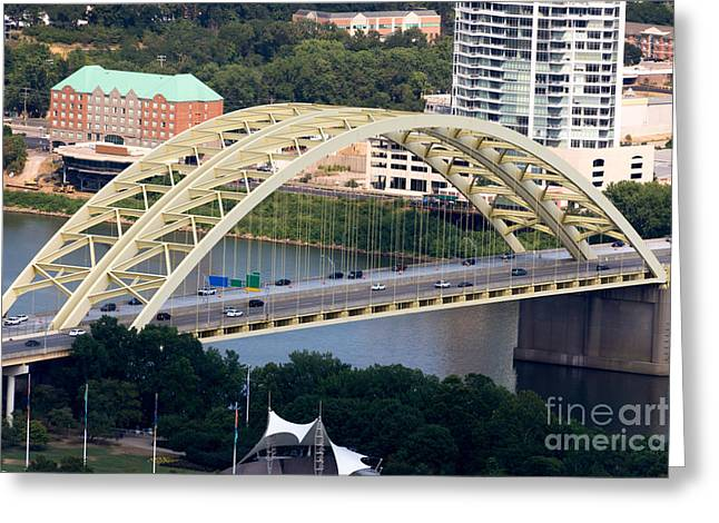Daniel Carter Beard Bridge Cincinnati Ohio Greeting Card by Paul Velgos