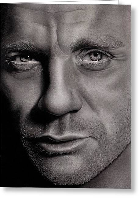 Issa Greeting Cards - Daniel Craig Greeting Card by Lianne Anderson