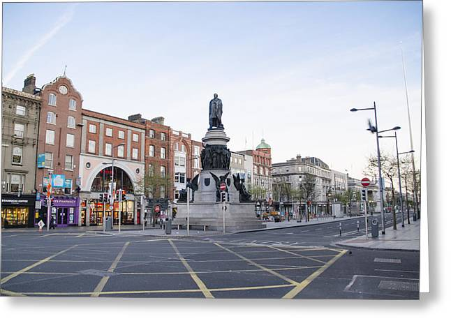 Daniel Photography Greeting Cards - Daniel OConnell Statue - Dublin Ireland Greeting Card by Bill Cannon