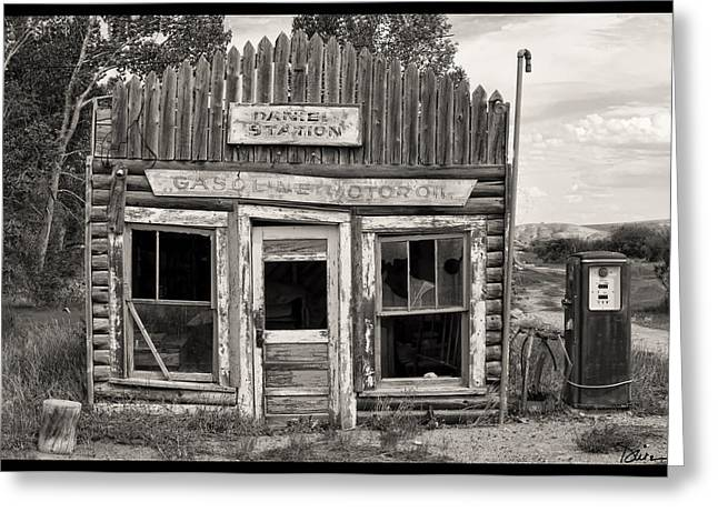 Recently Sold -  - Log Cabins Greeting Cards - Daniel Station in Wyoming Greeting Card by Peggy Dietz