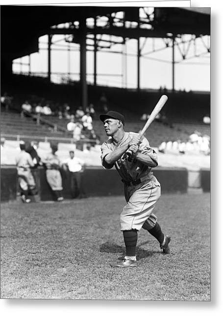 Baseball Game Greeting Cards - Daniel T. Danny Taylor Greeting Card by Retro Images Archive